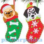 Kreatív hobby készletek a gyermeki kreativitás kibon - Karácsonyi zokni varrókészlet Baker Ross