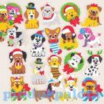 Kreatív hobby készletek - Karácsonyi kölykök habszivacs matricák