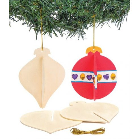 Karácsonyi dekoráció - 3D-s fafüggődísz Baker Ross
