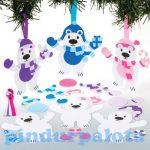 Kreatív hobby - Készletek, dekorációk - Jegesmedve függődísz készítő szett, Baker Ross