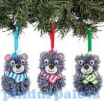 Kreatív hobby készletek a gyermeki kreativitás kibontak - Karácsonyi pom pom mackó dísz Baker Ross