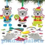 Kreatív hobby - Készletek, dekorációk - Karácsonyi mackó függődísz, Baker Ross