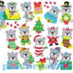 Kreatív hobby készletek - Karácsonyi mackó habszivacs matrica