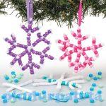 Kreatív hobby - Dekorációk, készletek - Gyöngyös hópehely függődísz, Baker Ross