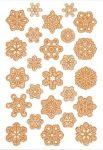 Kreatív hobby - Matricák - Hópehely matricák parafából, Baker Ross