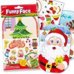 Kreatív hobby készletek - Karácsonyi mókás matricacsomag Baker Ross