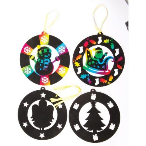 Kreatív hobby - Dekorációk - Karácsony - Karácsonyi lógó, képkarcoló dekoráció