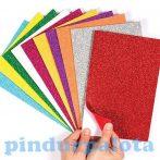Kreatív hobby - Készletek - Öntapadós csillámos papírlap csomag
