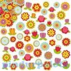 Kreativ hobby - Keszletek - Virágos habszivacs matrica