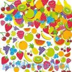 Kreatív hobby - Készletek - Gyümölcs habszivacs matrica