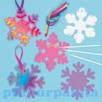 Kreatív hobby - Készletek - Képkarcolós hópehely függődísz, Baker Ross