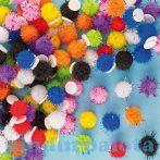 Kreatív hobby - Készletek - Öntapadós csillámos pompom