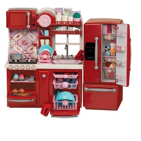 Játékkonyhák - Delux Gourmet Játékbaba konyha nagy méretben OG Dolls