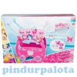 Játékkonyhák - Edények - Játék élelmiszerek - Disney Princess teás szervírozó kocsi 17 kiegészítővel