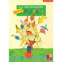 Készségfejlesztő - Színes labirintusjáték - Merre jár Fleki?