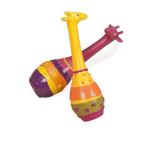 Játék hangszerek gyerekeknek -  Zsiráfos rumbatök, B.Toys