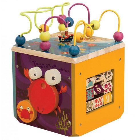Oktató, fejlesztő játékok fából - Activity kocka fajáték B.Toys