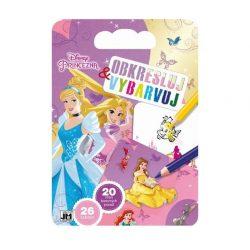 Kifestők - Rajztömb sablonokkal Disney Hercegnők