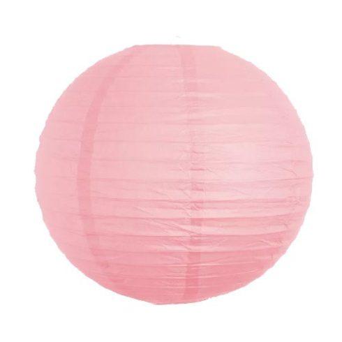 Party díszek - Lampion gömb papír rózsaszín