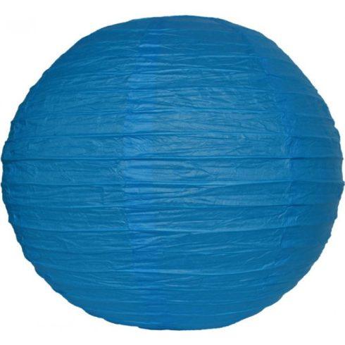 Party dekoráció - Lampion gömb papír 25 cm kék