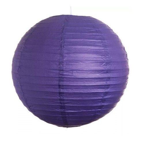Party díszek - Lampion gömb papír lila