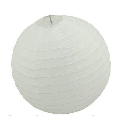 Party dekoráció - Lampion gömb papír fehér 25 cm