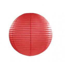 Party díszek - Lampion gömb papír piros
