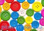 Kreatív hobby felszerelés - Gomb fa 15mm vegyes színek