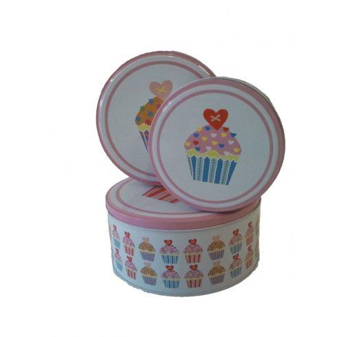 Sütemény tárolók - Fém sütis doboz