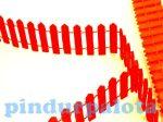 Kreatív hobby készletek - Dekorációk - Piros színű dekorációs fakerítés