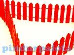 Kreatív hobby készletek - Dekorációk - Fa kerítés piros színben