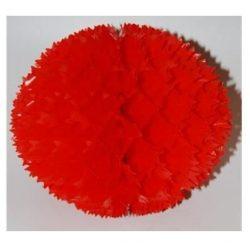 Party kellékek - Party dekorációk - Dekor lampion virág piros színben
