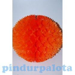 Party dekorációs kellékek - Lampion virág narancssárga - 6 cm