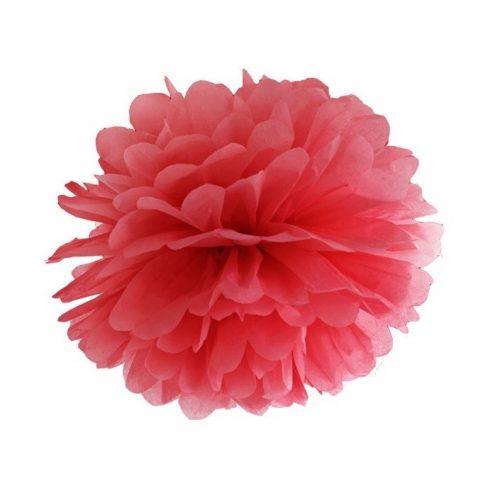 Party kellékek - Party dekorációk - Piros virág lampion 10 cm