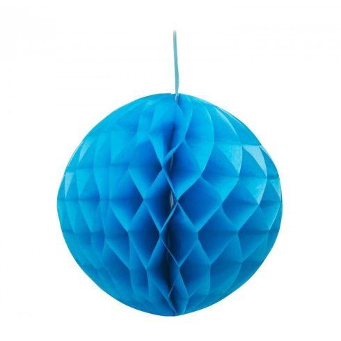 Party dekoráció - Lampion óriás gömb 50 cm türkiz kék színű