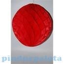 Party díszek - Dekor lampion labda papír 20cm piros