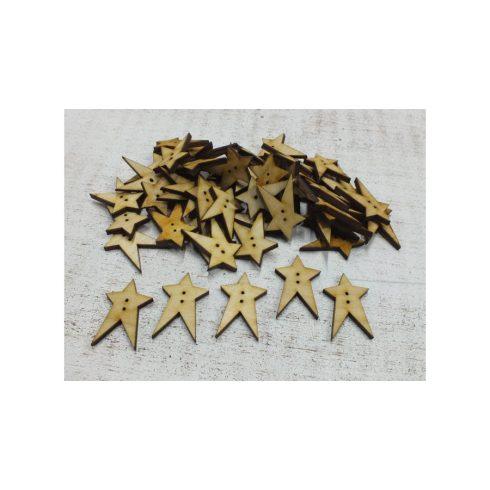 Kreatív hobby készletek - Dekoráció - Csillag gomb - Fa - Natúr