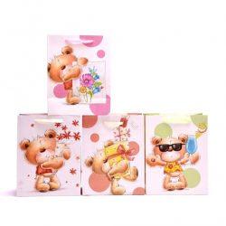 Ajándék csomagolási ötletek - Medvés rózsaszín