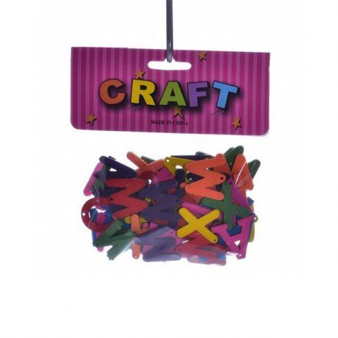 Kreatív Hobby kellékek - Dekorációs alapanyagok - Fa betűk színes dekorációs célokra magasság 2-2,5
