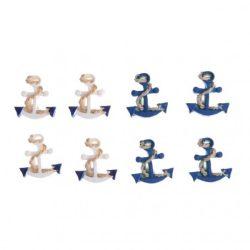 Kézműves kellékek - Dekorációs elemek - Horgony, poly, kék-fehér