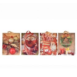 Ajándék tasakok - Díszzacskók - Ünnepi csomagolások ajándékokhoz - Karácsonyi ajándékzacskó 26x32x