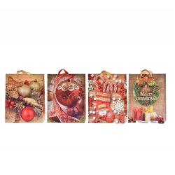Ajándék tasakok - Díszzacskó - Karácsonyi ajándékos tasak 30x40x12cm