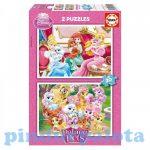 Junior puzzle -  Educa Disney Hercegnők Palota kedvencek puzzle, 2x20 darabos