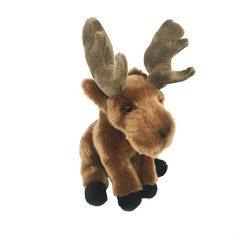 Plüss állatok - Plüss figurák - Plüss rénszarvas ülő barna 26cm