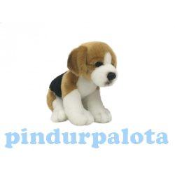 Plüss kutyák - Plüss Beagle kutya ülő 18cm
