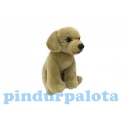 Plüss kutyák - Plüss golden retriver kutya ülő szürke 18cm