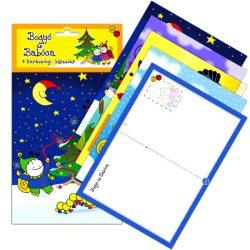 Party kiegészítők - Bogyó és Babóca 4 db-os karácsonyi képeslap csomag