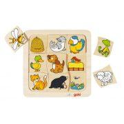 Fejlesztő játékok gyerekeknek - Fa Puzzle kis hol él?