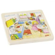 Kirakós játékok - Réteg puzzle fából Egy napom