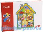 Fejlesztő játékok gyerekeknek - Fa Puzzle Vidéki ház